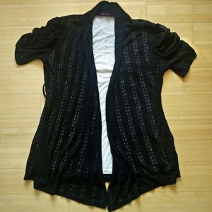Annabelle Attached Open Lace Cardigan Top